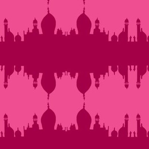 taj mirrored magenta on pink