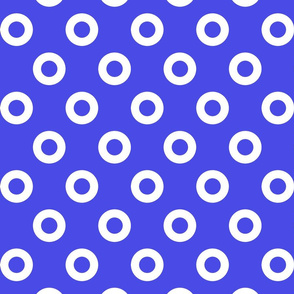Blue and White Mod Circles