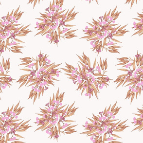 Gumnuts_Ditsy Pink Rose Gold