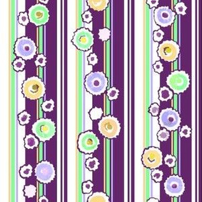 Deckled Dots Stripe - Purple