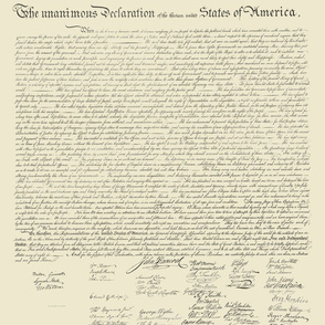 """17x21""""  Declaration of Independence (NOT for Fat Quarters)"""