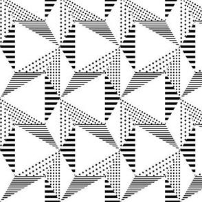 geo cool hexagons black and white