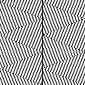 geo cool line work triangles black