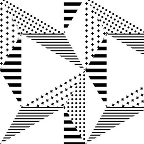 geo cool hexagons black and white LG