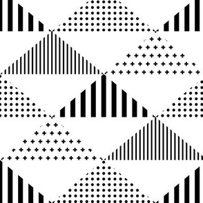 geo cool triangles black and white vertical LG
