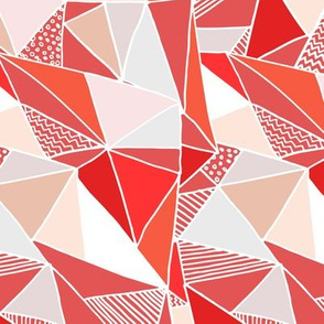Red Abstract (Bright) - by Kara Peters