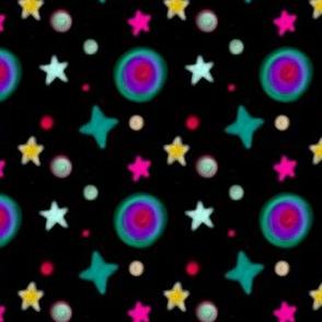Simple Boho Galaxy on Black