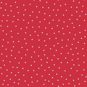 snowy dots red :: cheeky christmas