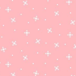 snowy flakes pink :: cheeky christmas