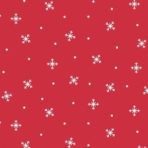 snowy flakes red :: cheeky christmas