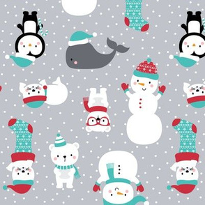 snow cuties grey :: cheeky christmas