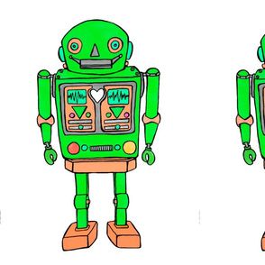 Green robot large print