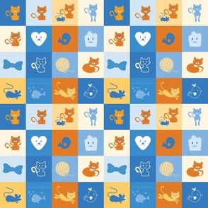 Meow Meow Kitty - 4in (blue gold)