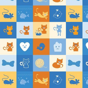 Meow Meow Kitty - 6in (blue gold)