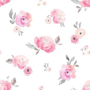 Blush Pastel Floral Rose