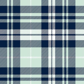 fall plaid (mint, navy, white) || the bear creek collection