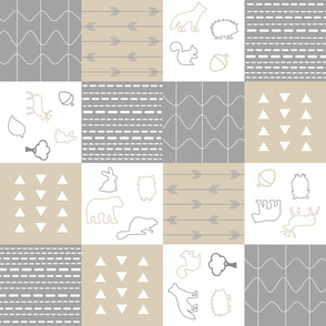 Woodland Animal Nursery Quilt Squares