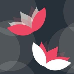 Fuchsia Water Lily Pattern