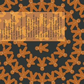 Gingerbread Recipe Tea Towel (mandala)