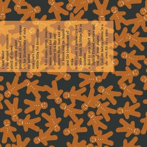 Gingerbread Recipe Tea Towel (scatter)