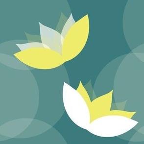 Yellow Water Lily Pattern