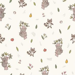 Little Friends Koala & Raccoon Pattern