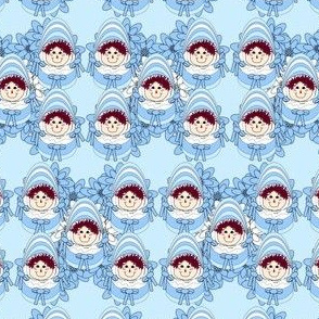 Bassinet Boy Baby Heads Fabric Collection