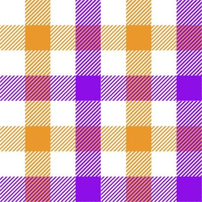 Plaid - Peach, Orange, Purple