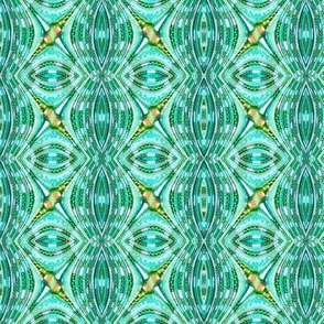 Beaded Fractal Waves - Turquoise