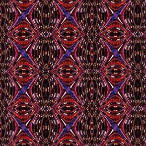 Beaded Fractal Waves - Wine