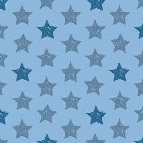 Stars Drawn blue