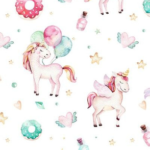 Watercolor unicorn world_3