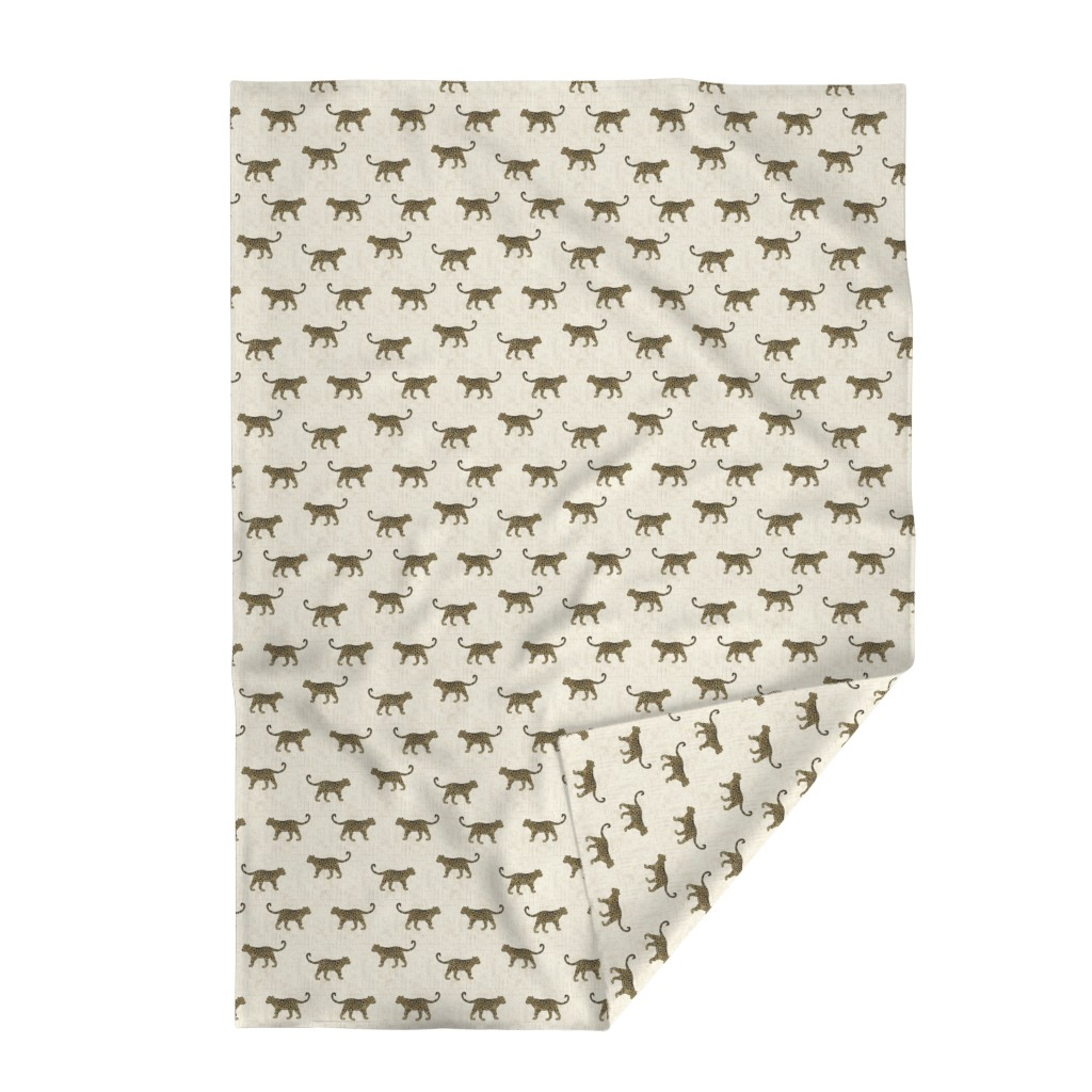 Lakenvelder Throw Blanket featuring Leopard Texture Beige by kimsa