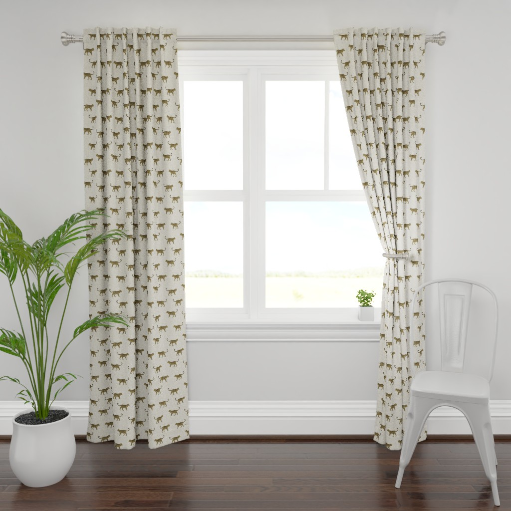 Plymouth Curtain Panel featuring Leopard Texture Beige by kimsa