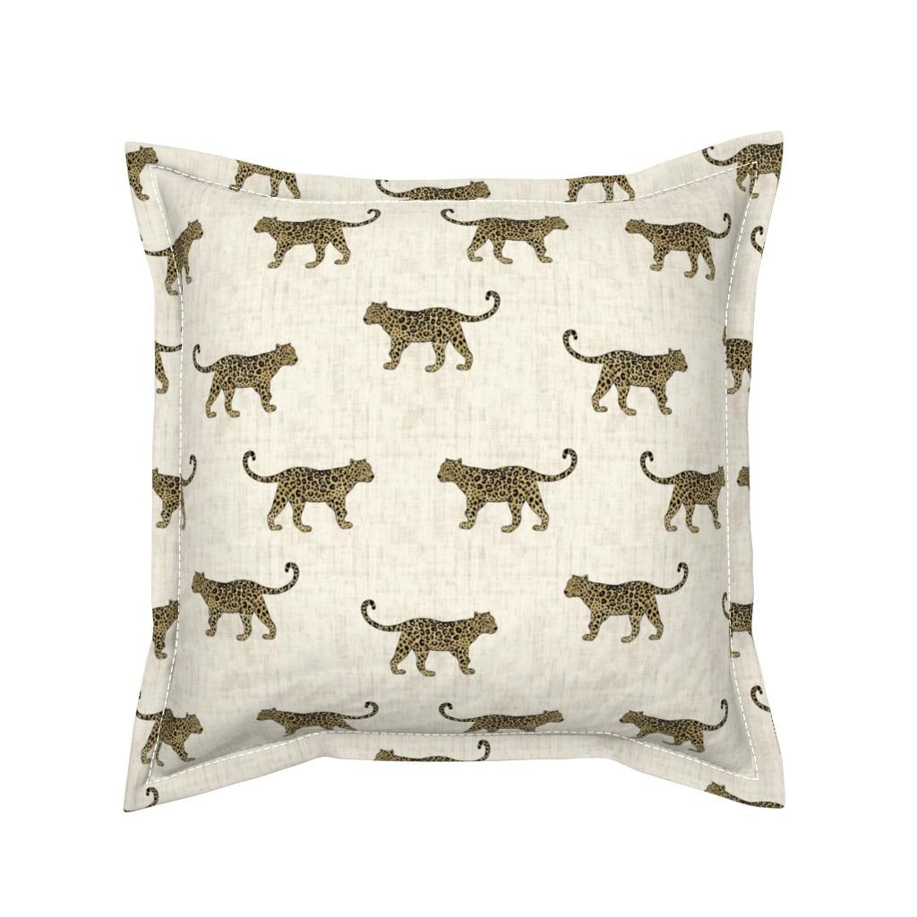 Serama Throw Pillow featuring Leopard Texture Beige by kimsa