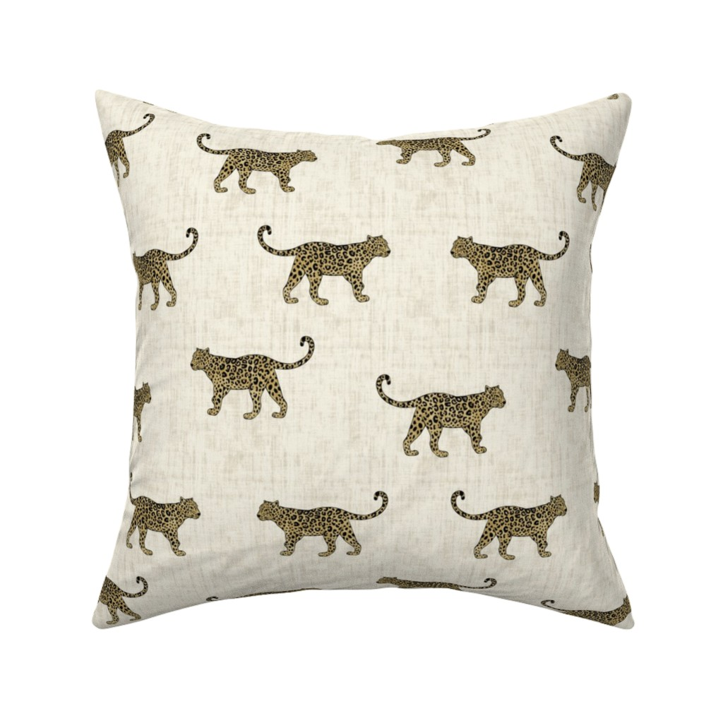 Catalan Throw Pillow featuring Leopard Texture Beige by kimsa