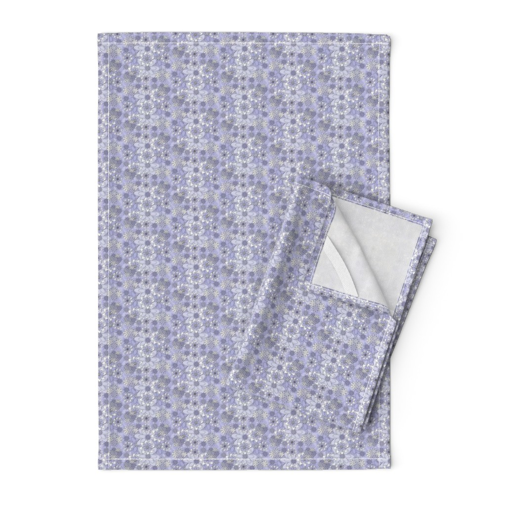 Orpington Tea Towels featuring Victorian Flora Ellen Bride Wedding Fabric Collection by lworiginals