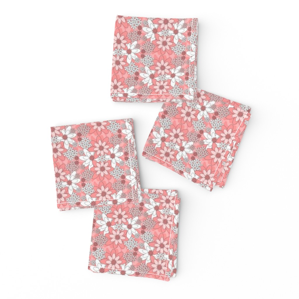 Frizzle Cocktail Napkins featuring Victorian Elsa Bride Wedding Fabric Collection by lworiginals