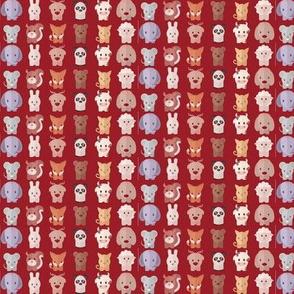 Cartoon Animals - 7.5 in (red)