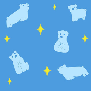 Light Blue Polar Bear