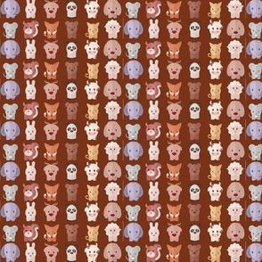 Cartoon Animals - 7.5in (brown)