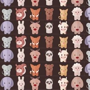 Cartoon Animals - 15 in (brown)