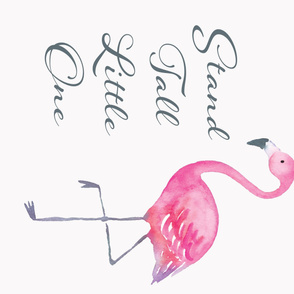 Stand Tall Flamingo Panel 90 Degrees