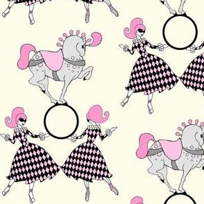 Pink and Cream retro circus