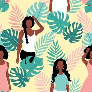 African American girls summer