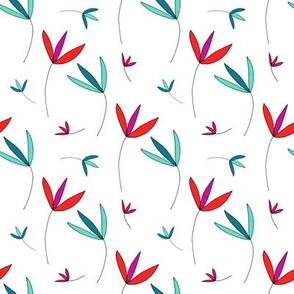 Colorful Botanical Print by Emma Freeman Designs