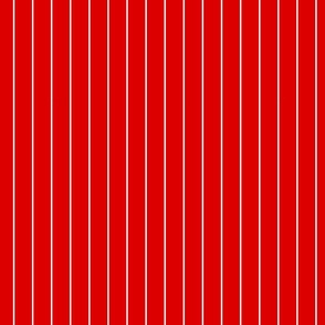 Red and White Vertical Pinstripes