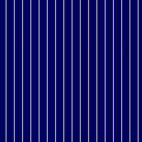 Navy Blue and White Vertical Pinstripes