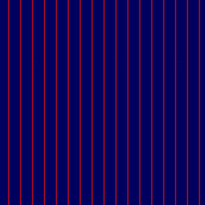 Navy and Red Vertical Pinstripes
