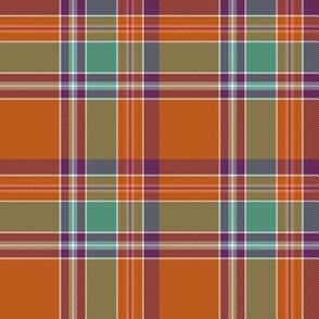 "Birral / Burrell tartan, 4"" asymmetrical ancient"
